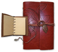 Leather Leaf Notebook in Box